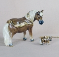 """Thumbelina Miniature Horse"" Kingspoint Trinket Box & Necklace"
