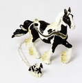 """Kingspoint """"Sundance Gypsy Vanner"""" Trinket Box and Necklace"""