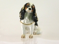 "KP ""Taylor-Tri King Charles Cavalier Spaniel"" Box & Necklace"