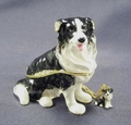"Kingspoint ""Captain Border Collie"" Trinket Box & Necklace"
