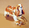 "Kingspoint ""Cavalier King Charles"" Trinket Box & Necklace"