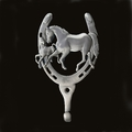 Horseshoe Mare And Foal Wall Hook