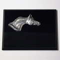 Pewter Arabian Head Premium Plaque - Log in for quantity pricing of 2 or more trophies.