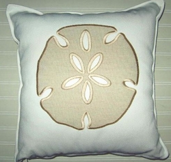 Newport Tan Sand dollar Pillow
