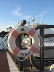 Nautical  Be Merry Life Ring