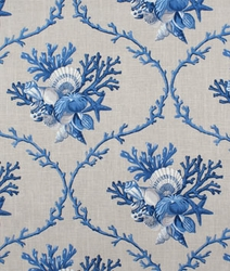 Blue Seashell Shower Curtain Northport