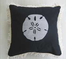 Black Sand Dollar Pillow