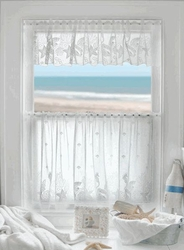 Seahorse lace  window treatment  Swag Pair