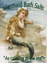 "Mermaid Sign - ""Mermaid Bath Salts As Calming as the Sea"""