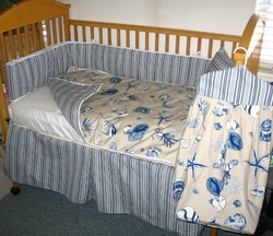 Seashell Baby Bedding Blue Sea