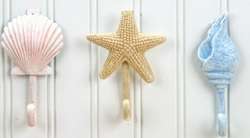 Seashell and Starfish hooks