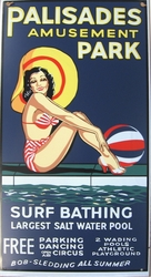 Vintage Style Beach Sign Palisades Park