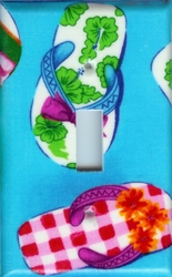 Teal Flip Flop Switchplates