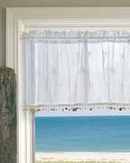 Coastal Curtains Valance White Shell 45x15