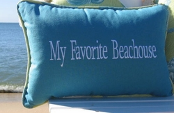 My Favorite Beach House Coastal Pillow Seabreeze