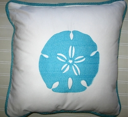 Aqua Blue Sanddollar Pillow