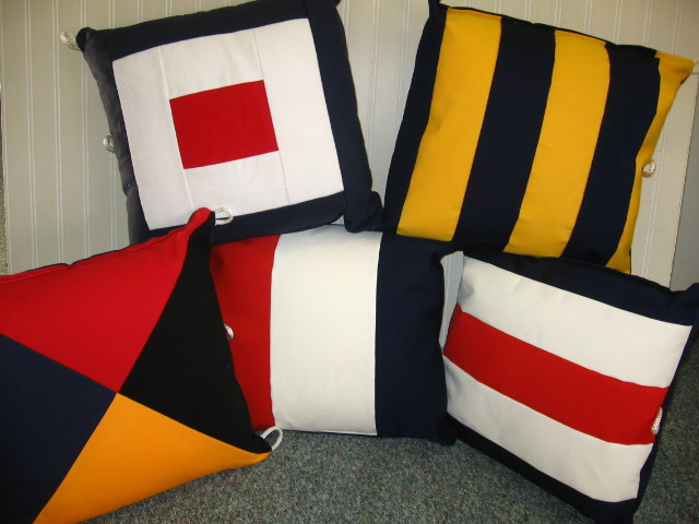 Boat Pillows Indoor/ Outdoor Pillows Sunbrella