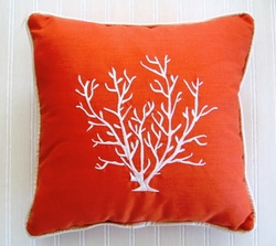 Suede Coral Pillow