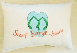 Beachfront Surf Sun Sand PIllow