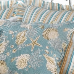 Coastal Seashell Quilted Sham Cape Cod