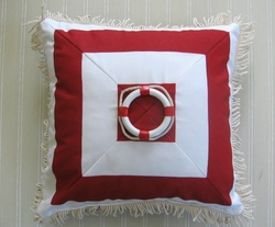 Sunbrella Nautical pillow Liferaft