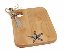 Starfish Cutting Board with Spreader