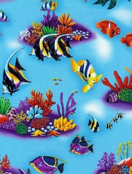 Aqua Fish Shower Curtain