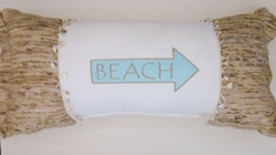 Beachfront Beach Arrow PIllow