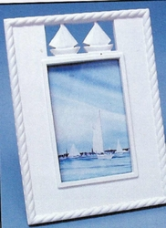White Sailboat Picture frame