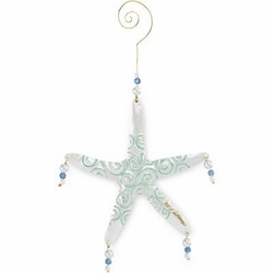 Metal Starfish Holiday Ornament