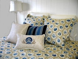 Seashell Bedding Hampton Blue