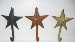 Set of 3 Star Hooks