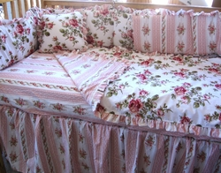 Beach Cottage Baby Bedding Pink 9 piece set