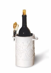 Shell Wine Cooler with Bottle Stopper
