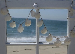 White Scallop Shell Garland