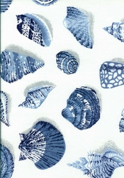 Blue Seashell Shower Curtain