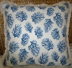 Blue Coral Pillow Large