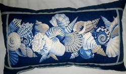 Sanibel Blue Multi Shell Oblong Pillow sold out