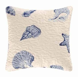 Blue Quilted Pillow Shore House