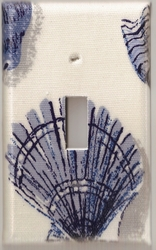 Blue Seashell Single Switchplate