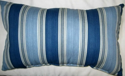 Blue Stripe Oblong Pillow