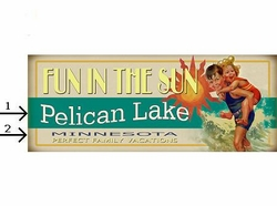 Vintage Fun In The Sun Sign