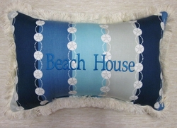 Capri Sand Dollar Beach House Pillow