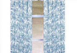 Aqua Blue Coral Curtain Panels Set of 2