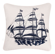 Nautical Sailing Ships Pillow