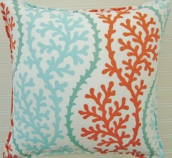Beach Pillow Coral Coastline