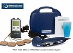 """LG-PROCOMPLETE"" TENS, Muscle Stimulator, and Ultrasound Unit Complete Professional Treatment System"