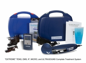 """EXTREME KIT"" LG-QUAD 4 in 1 (TENS, Muscle Stimulator, Interferential, and Microcurrent COMBO) and ""PRO SERIES"" Ultrasound Therapy Combination Kit"