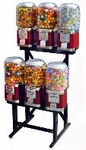 6-Unit LYPC Classic Candy Gumball Machine Rack Combo