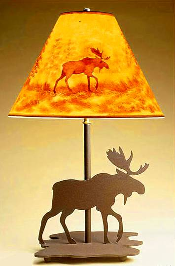 27 Inch Moose Table Lamp
